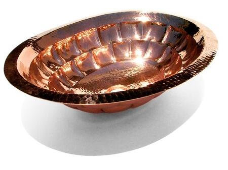 D'Vontz LV1002L15SC Tortoise Shell Oval Copper Undermount Sink With 77% Recycled Copper, 99% Pure Copper & Shiny Copper Finish
