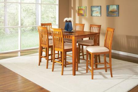 """Atlantic Furniture SHAKER4278BTPT Shaker Series 42x78 Butterfly Top Pub Height Dining Table (Include 18"""" Leaf):"""