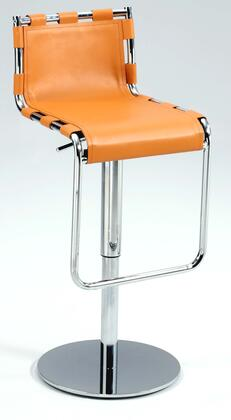 Chintaly 0963-AS Strap Back Pneumatic Gas Lift Adjustable Height Swivel Stool