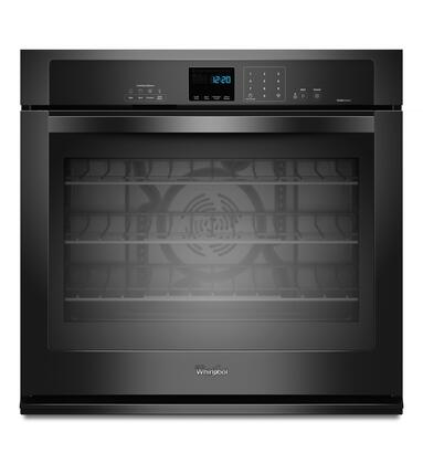 """Whirlpool WOS92EC7A 27"""" Single Electric Wall Oven With 4.3 Cu. Ft. TimeSavor Ultra True Convection Oven, Self-Cleaning, Steam Clean Option, Hidden Bake Element, Digital Clock, and 2 Racks"""