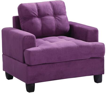 Glory Furniture G517AC Purple Suede Armchair