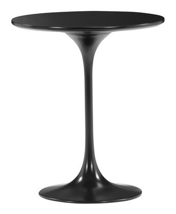 "Zuo 4011 Wilco Collection 20"" Side Table with Glossy Base and Top"