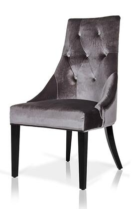 VIG Furniture VGUNAA031GRY A & X Charlotte Series Modern Fabric Wood Frame Dining Room Chair