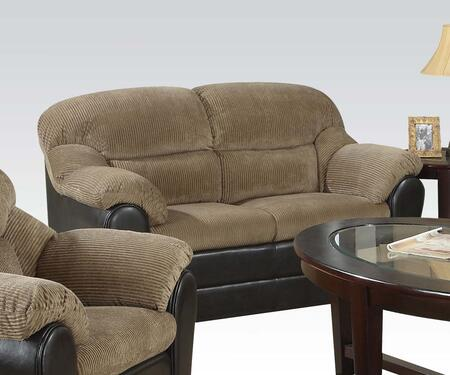 Acme Furniture 15946 Connell Series Fabric Stationary with Wood Frame Loveseat