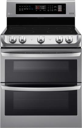 """LG LDE4411S 30"""" Freestanding Electric Double Oven Range with 7.3 cu. ft. Capacity, ProBake Convection, EasyClean, in Stainless Steel"""