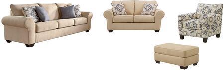 Milo Italia MI6370SLACOPARC Madalynn Living Room Sets