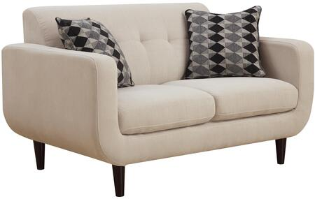Coaster 505205 Stansall Series Fabric Stationary with Wood Frame Loveseat