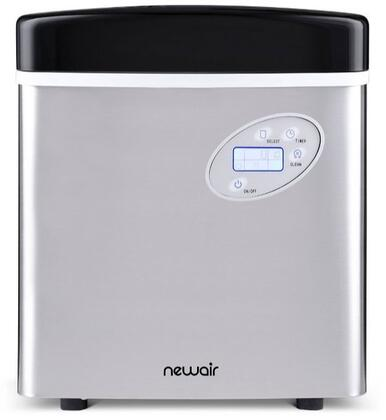 "Newair AI-215SS  Freestanding Ice Maker with 50lbs Daily Ice Production, 16.75"" Ice Storage, in Stainless Steel"