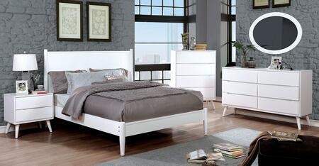 Furniture of America CM7386WHCKBEDSET Lennart II California