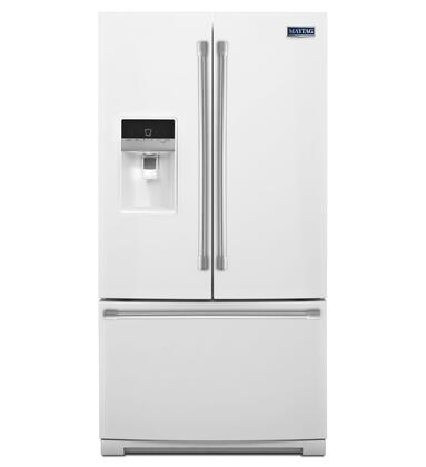 "Maytag Heritage MFT2574DE 36"" Freestanding French Door Refrigerator With 24.69 cu. ft. Total Capacity, PowerCold, Wide-N-Fresh Deli Drawer, Exterior Ice And Water Dispenser, And LED Lighting:"