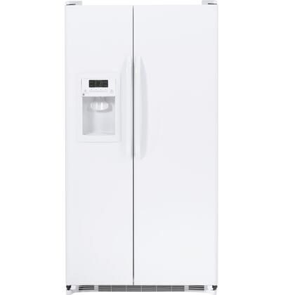 GE GSH22JGDWW  Side by Side Refrigerator with 21.9 cu. ft. Capacity in White