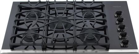 Frigidaire FGGC3665KB Gallery Series Gas Sealed Burner Style Cooktop, in Black
