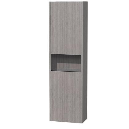 Wyndham Collection WCV203GO Wall Mount Cabinet Natural Wood Veneers Over Solid Oak Hardwood 0 Drawers Cabinet