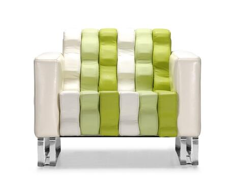 Zuo 900266 Ripple Series  in White & Green