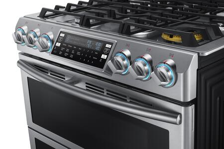 samsung nx58k9850ss 30 inch slidein gas range with sealed burner cooktop 58 cu ft primary oven capacity storage in stainless steel appliances