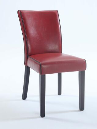 Chintaly MICHELLEPRSSC MICHELLE Bonded Leather Parsons Chair