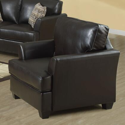 Monarch I891 Bonded Leather Chair, with Detailed Stitching, Extra Padded Arms, and Deep Cushioned Seat