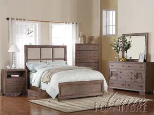 Acme Furniture 20180Q Equinox Series  Queen Size Panel Bed