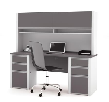 Bestar Furniture 93860 Connexion Credenza and hutch