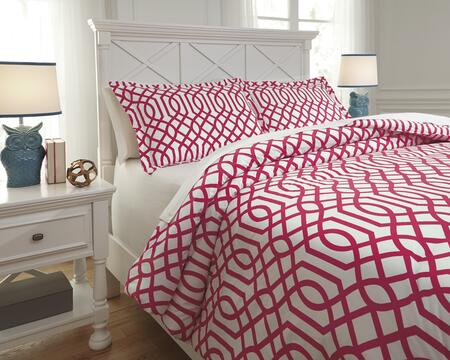 Signature Design by Ashley Loomis 2 PC Twin Size Comforter Set includes 1 Comforter and 1 Standard Sham with Geometric Design and 200 Thread Count Cotton Material in Color