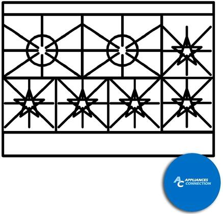 """Southbend 4483DC6 Ultimate Range Series 48"""" Gas Range with Three Front Star/Saute Burners, Two Rear Pyromax Burners, and Two Side Star/Saute Burners, Up to 245000 BTUs (NG)/182000 BTUs (LP), Standard Oven and Cabinet Base"""