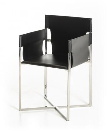 """VIG Furniture Modrest Jones Collection 21"""" Dining Chair with Stainless Steel Frame and Eco-Leather Upholstery in Color"""