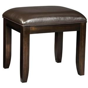 Standard Furniture 23623 Bella Series Armless Vinyl Wood Frame Accent Chair