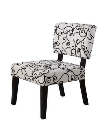 Linon 36080BWC01KDU Taylor Series Armless Fabric Wood Frame Accent Chair