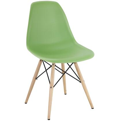 Modway EEI180LGN Pyramid Series Modern Not Upholstered Wood Frame Dining Room Chair