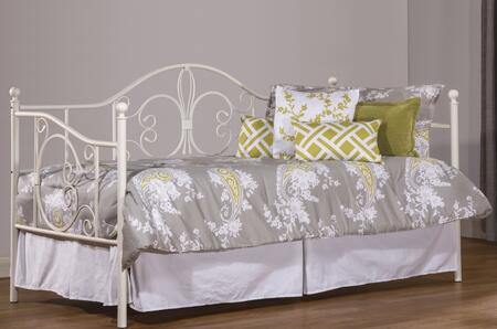 Hillsdale Furniture 1687D Ruby Twin Size Daybed with Suspension Deck, Wood and Tubular Steel Construction in Textured White Color