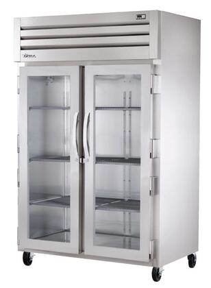 True STG2R-2 Spec Series Two-Section Reach-In Refrigerator with 56 Cu. Ft. Capacity, LED Lighting and Swing-Door