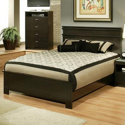 Sandberg 335A Times Square Series  Queen Size Panel Bed