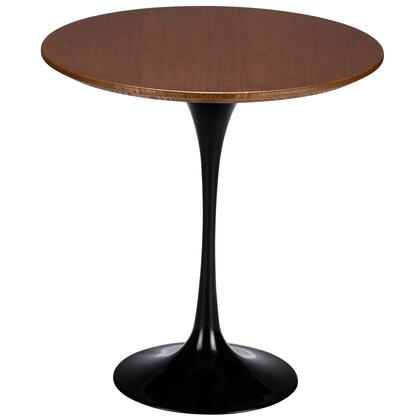 EdgeMod EM143BLK Daisy Series Mid-Century MDF Round None Drawers End Table