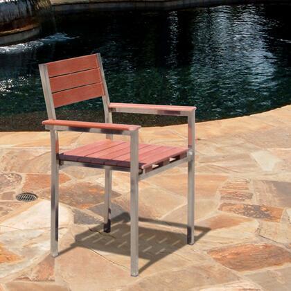 Vifah V1267  Wood Frame  Patio Side Chair