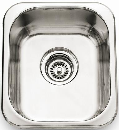 "Barclay PSSSB204 Pamela X"" Drop In Bar/Prep Sink with Single Square Bowl and a 1.062 Wide Lip: Matte Stainless Steel Finish"
