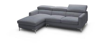 1281b italian leather sectional, left arm chaise facing, gray 10