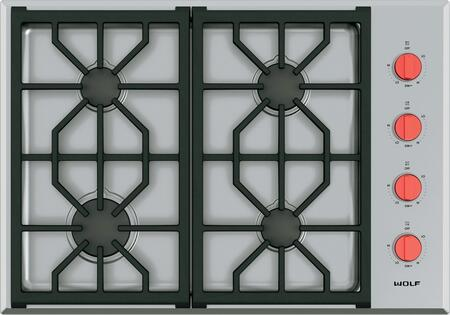 Wolf Cg304ps 30 Inch Gas Sealed Burner Cooktop