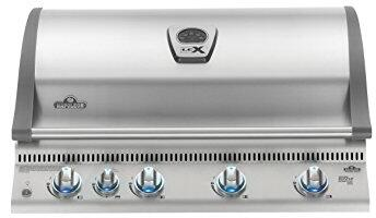 """Napoleon BILEX605RBI 36"""" Lex 605 Series Built-In Grill with 3 Stainless Steel Bottom Burners, 1 Ceramic Infrared Bottom Burner, 1 Rear Infrared Burner, 95500 Total BTUs, 850 sq. in. Total Cooking Area, in Stainless Steel"""