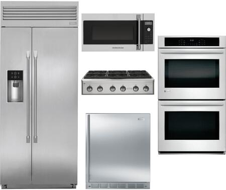 Monogram 890079 5 piece Stainless Steel Kitchen Appliances Package