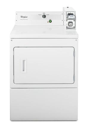"Whirlpool CXM2743BQ 27"" Commercial Front Load Dryer With 7.4 Cu. Ft. Drum Capacity, 3 Cycle Options, Factory-Installed Coin Slide and Coin Box, Single Operating Thermostat and In White"