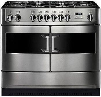 Heartland HLP44NGS Paragon Series Dual Fuel Freestanding Range with Sealed Burner Cooktop, 2.2 cu. ft. Primary Oven Capacity, Storage in Stainless Steel