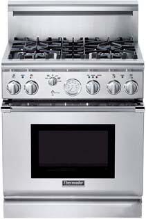 Thermador PRD304EG PRO Grand Series Dual Fuel Freestanding Range with Sealed Burner Cooktop, 5.1 cu. ft. Primary Oven Capacity, in Stainless Steel