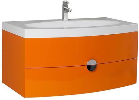 Fresca FCB5092XXI Energia Modern Bathroom Cabinet with Integrated Sink in