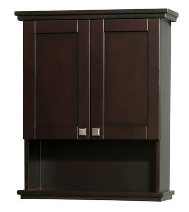Wyndham Collection WCV8000WC Wall Cabinet with Wall Mount Design, 2 Doors, Concealed Door Hinges, 3 Shelves & Metal Exterior Hardware in