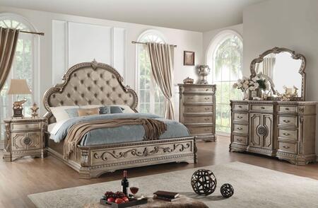 Acme Furniture Northville 5 Piece King Size Bedroom Set