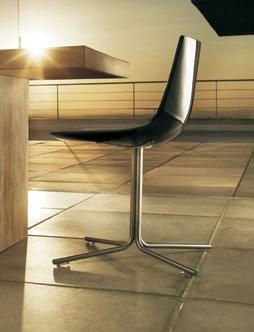 Modloft CDX167IAL5 Audley Series Modern Not Upholstered Metal Frame Dining Room Chair