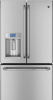 GE Cafe CYE23TSDSS  Counter Depth French Door Refrigerator with 23.1 cu. ft. Total Capacity 5 Glass Shelves
