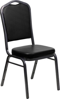 """Flash Furniture HERCULES Series FD-C01-SILVERVEIN-XX-VY-GG 18.25"""" Crown Back Stacking Banquet Chair with Vinyl, 2.5"""" Thick Seat, Silver Vein Frame, 16 Gauge Steel Frame, and Ships Fully Assembled"""