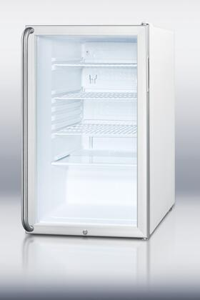 Summit SCR450L7SHADA SCR450L7ADA Series White Counter Depth All Refrigerator with 4.1 cu. ft. Capacity