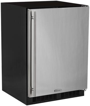"""Marvel ML24FA 24"""" All-Freezer with 4.7 co.ft. Capacity, with 2 Roll-Out Stainless Steel Wire Baskets and 1 Shelf, Soft-close and Close Door Assist System and:"""